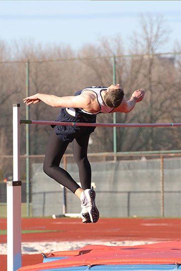 Jimmy Jet wins boys high jump at Wyoming High School State Athletic Association Track and Field Championships.